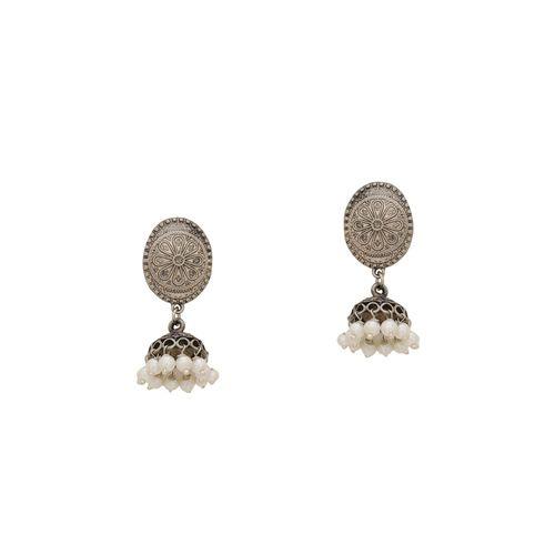 SILVERMERC DESIGNS silver brass jhumka earring