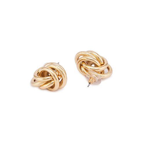 Globus gold metal studs earring