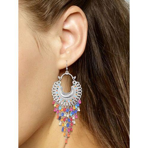 AL SHAILA FASHION multi colored metal drop earring