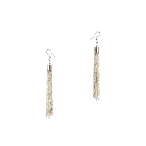 Carnival white drop earring
