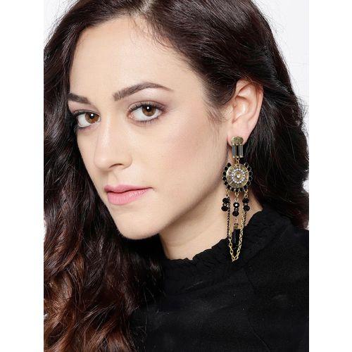 Jewels Galaxy black brass drop earring