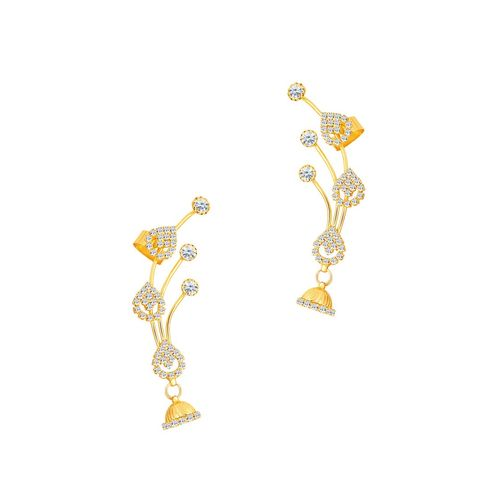 Sukkhi gold metal earcuff earring