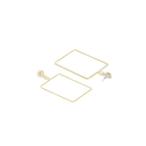 Globox gold metal drop earring