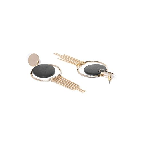 Jewels Galaxy black brass drop earring