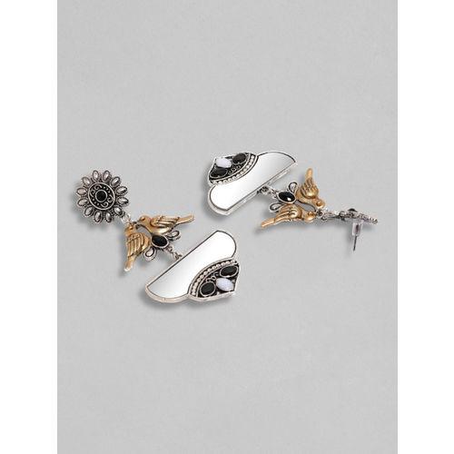 Rubans Silver-Plated Classic Drop Earrings