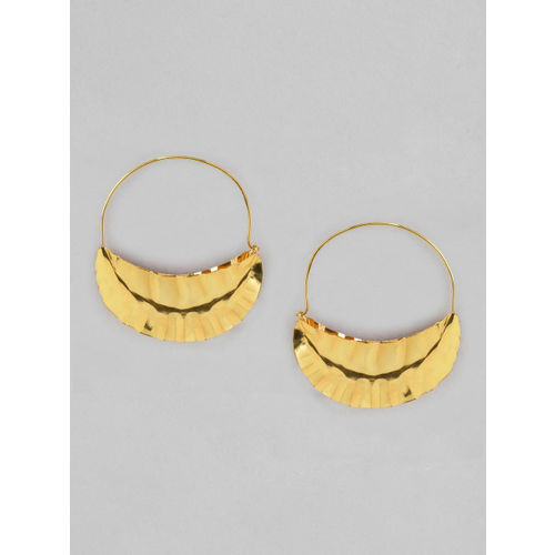 Rubans Gold-Plated Circular Hoop Earrings