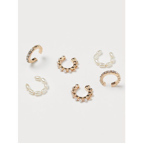 H&M Women Gold-Toned 6-Pack Ear Cuffs