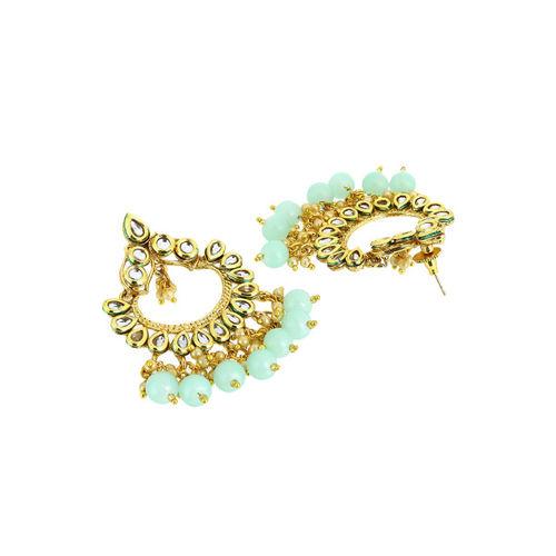 Adwitiya Gold-Plated Blue Classic Drop Earrings