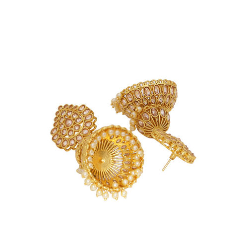 Voylla Gold-Plated Handcrafted Dome Shaped Jhumkas