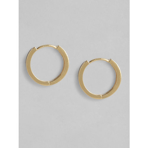 Accessorize Gold-Plated Cubic Zirconia Studded Circular Hoop Earrings