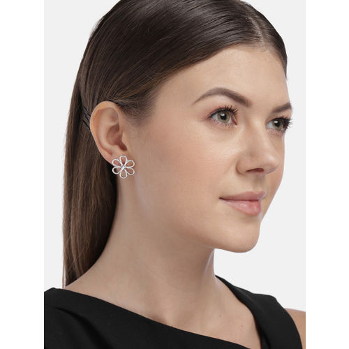 Accessorize Silver-Toned Floral Studs