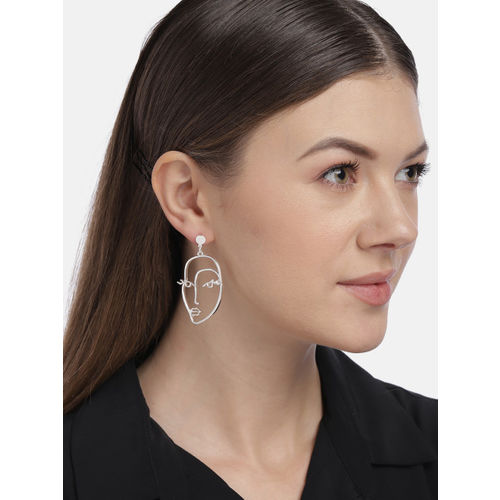 Accessorize Silver-Toned Quirky Drop Earrings