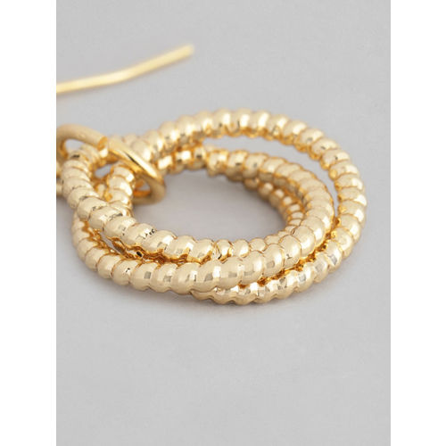 Accessorize Gold-Toned Eternity Circle Link Drop Earrings