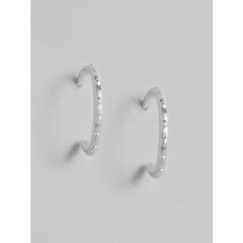Accessorize 925 Sterling Silver Circular Half Hoop Earrings