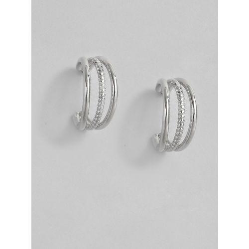 Accessorize Silver-Toned Mini Triple Half Hoop Earrings