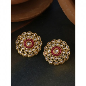 Voylla Gold-Plated Handcrafted Circular Studs