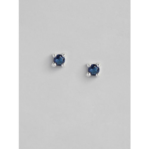 Accessorize Blue 925 Sterling Silver Square Studs