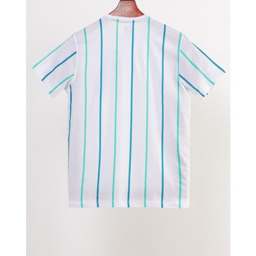 DNMX Striped Crew-Neck T-shirt with Patch Pocket