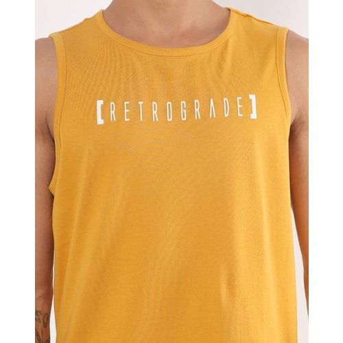 AJIO Typographic Print Crew-Neck Sleeveless T-shirt