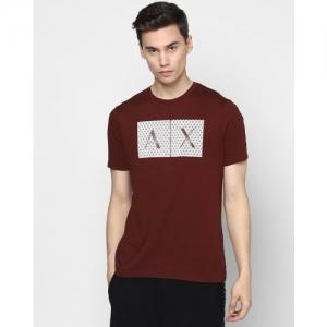 ARMANI EXCHANGE Graphic Print Slim Fit Crew-Neck T-shirt
