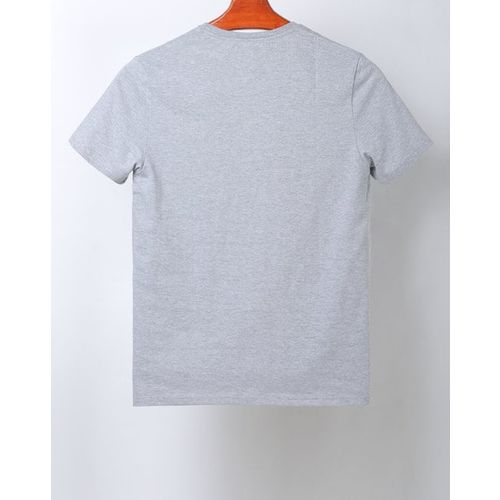 AJIO Crew-Neck T-shirt with Placement Embroidery