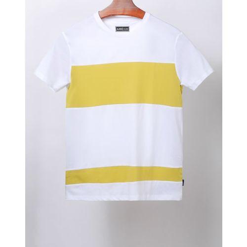 AJIO Colourblock Crew-Neck T-shirt
