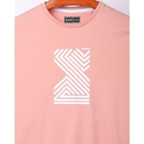 AJIO Geometric Print Crew-Neck T-shirt