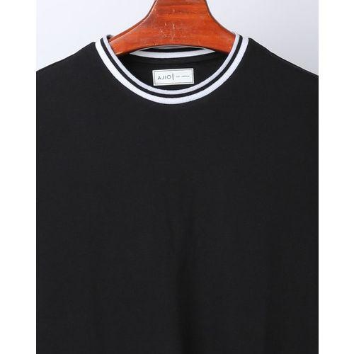 AJIO Slim Fit Pique Tshirt with Contrast Rib