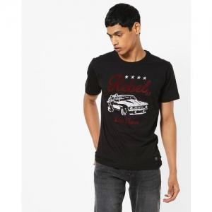 JOHN PLAYERS Typographic Print Crew-Neck T-shirt