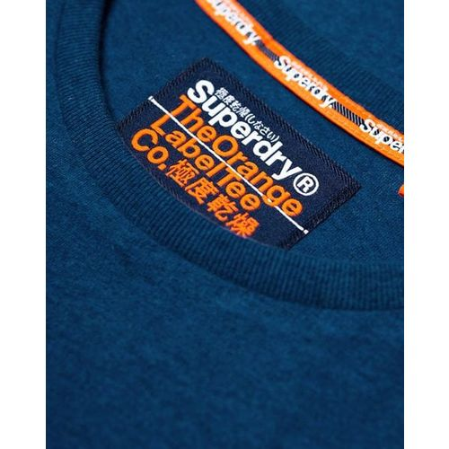 SUPERDRY Heathered Slim Fit T-shirt with Signature Branding