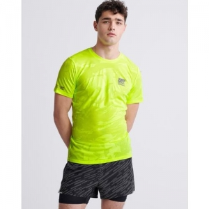 SUPERDRY Training Breathable Camouflage Print Crew-Neck T-shirt