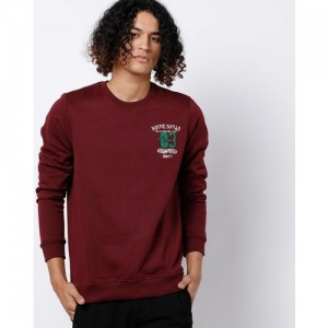 SPYKAR Slim Fit Sweatshirt with Placement Print