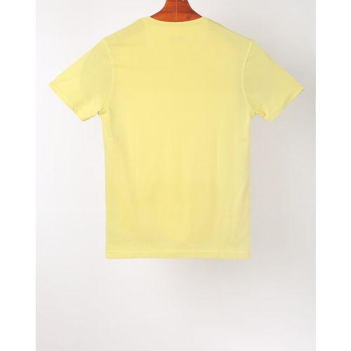 AJIO Colourblock Crew-Neck T-shirt with Typography