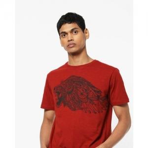 JOHN PLAYERS Graphic Print Crew-Neck T-shirt