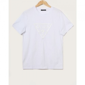 GUESS Crew-Neck T-shirt with Branding