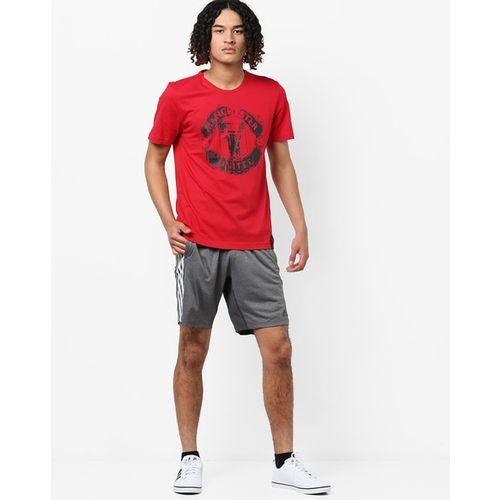 ADIDAS Graphic Print Crew-Neck T-shirt