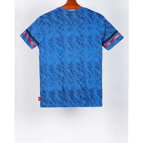 DISNEY Mickey Mouse Print Crew-Neck T-shirt