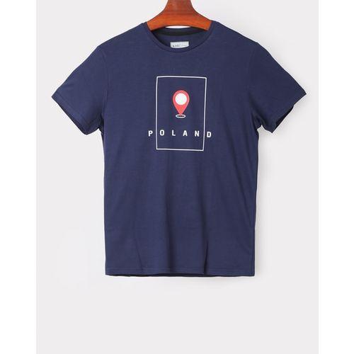 Ajio men tshirts, navy, s