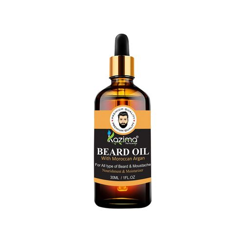 kazima beard & moustache oil (30ml) - ideal for thick soft and healthy hair growth