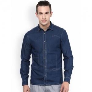 Atorse Blue Denim Slim Fit Casual Shirt