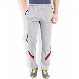 2go ACTIVE GEAR Grey Melange Tapered Fit Track Pants