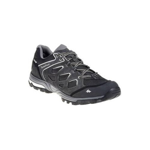Quechua Gray Leather Solid Running Shoes