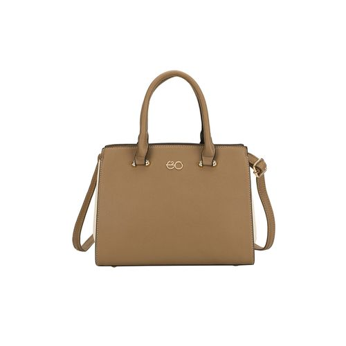 E2O brown leatherette (pu) regular satchel