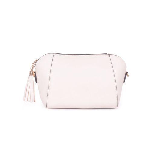 Bagkok cream leatherette regular sling bag