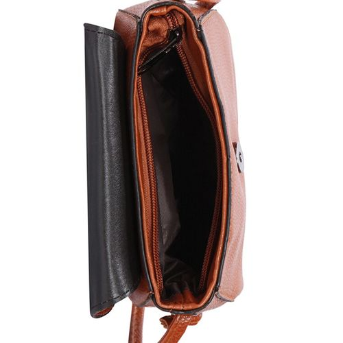 Bagkok tan leatherette (pu) regular sling bag