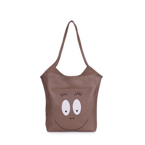 Bagkok brown leatherette (pu) regular handbag