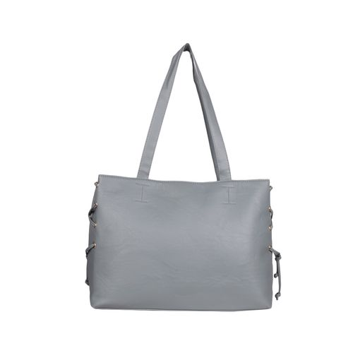 Bagkok grey leatherette (pu) regular handbag