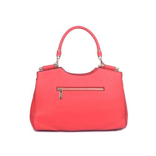 Bagkok red leatherette (pu) regular handbag