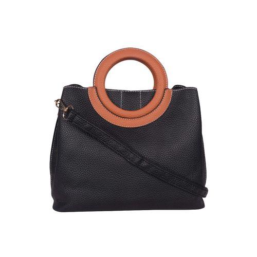 Bagkok black leatherette (pu) regular handbag