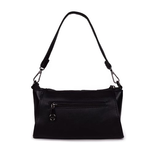 Bagkok black leatherette (pu) regular handbag